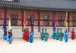 Подготовка к смене караула Дворец Токсугун Сеул