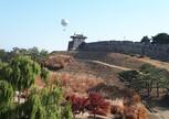 Вид на город и парк с крепостной стены