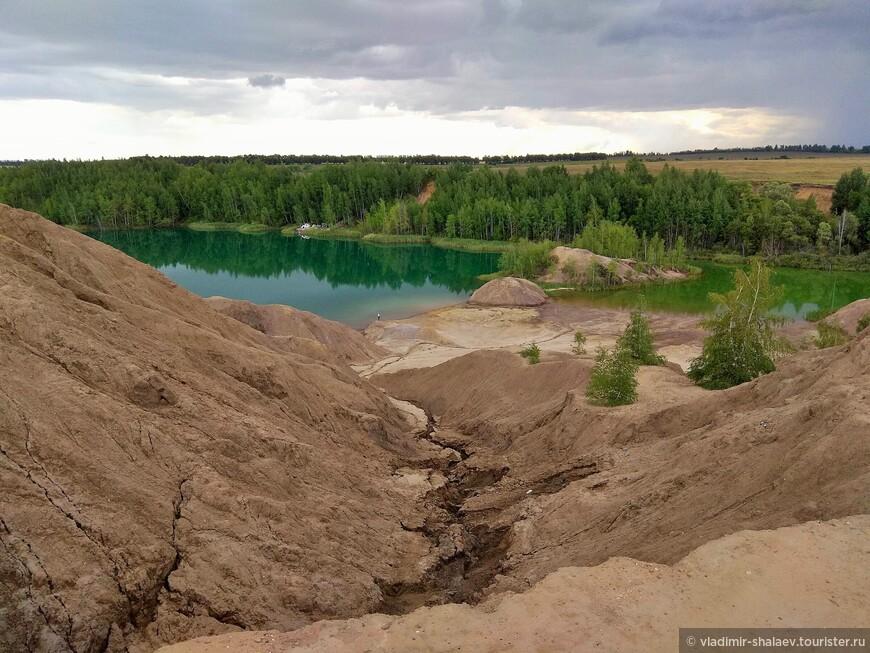 Самое крупное Романцевское озеро.