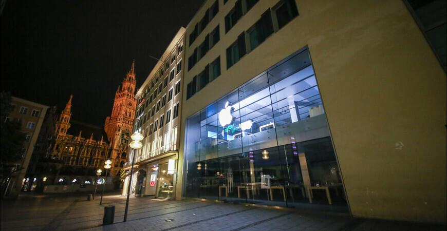 Фирменный магазин Apple<br/> в Мюнхене