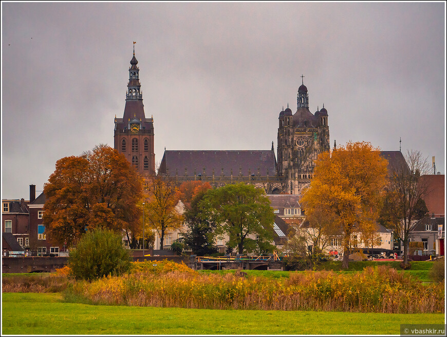 Хертогенбос. Вид на собор Св. Иоанна с поля.