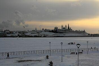 Набережная и река Казанка