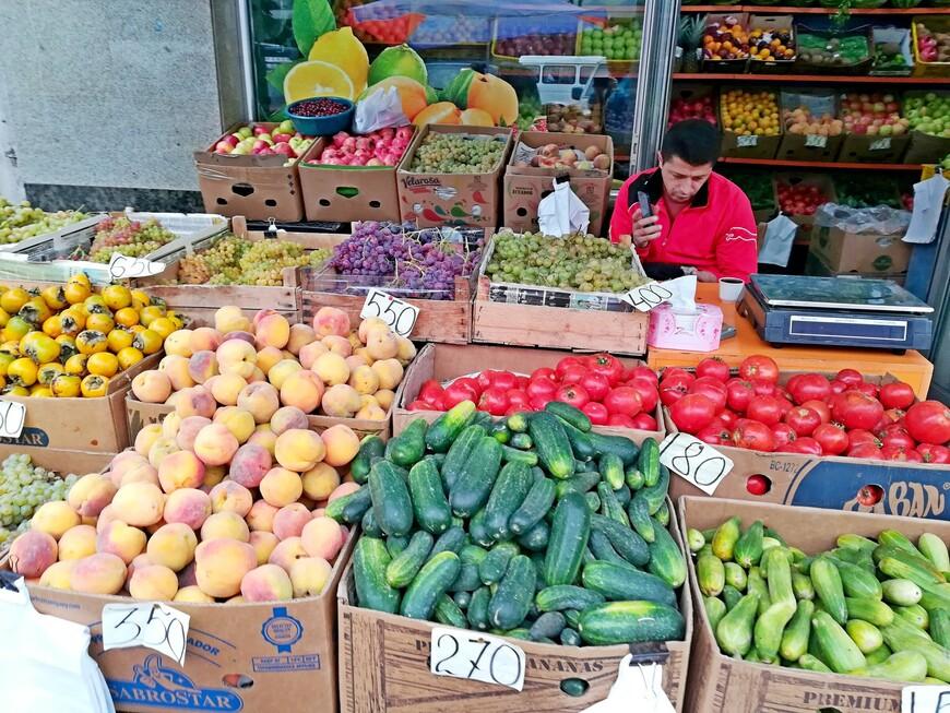 Сентябрь. Сезонные овощи и фрукты.