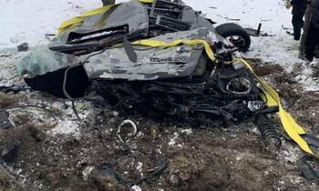 В Карелии москвичи с вертолёта сбросили «Мерседес»