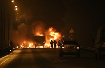 Трасса Скандинавия перекрыта из-за массового ДТП с погибшими