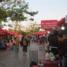 Ночной рынок на набережной Меконга