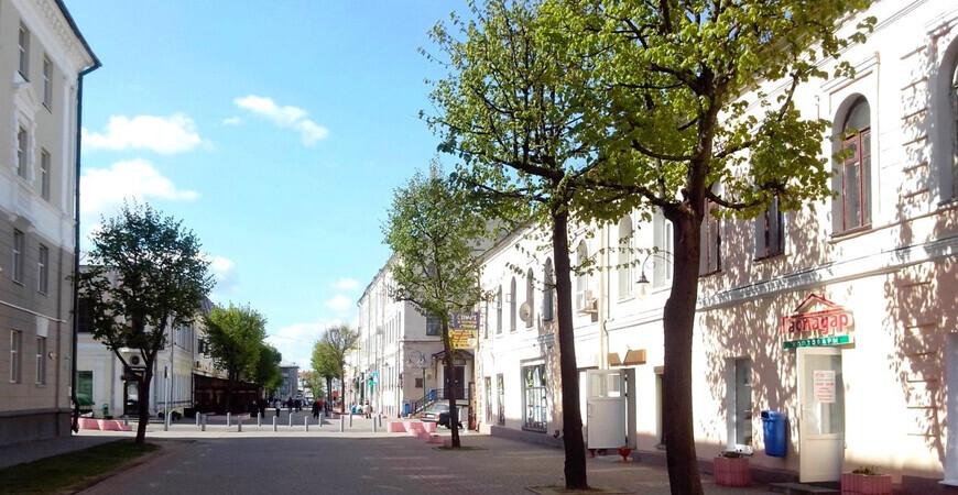 Пешеходная улица Ленинская в Могилеве