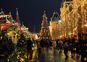 Москва в новогодних нарядах