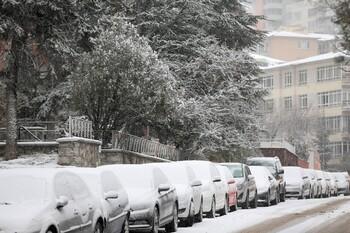 В Турцию пришли снегопады