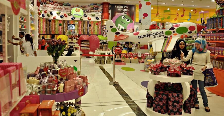 Магазин сладостей «Candylicious» в ТРЦ «Dubai Mall»