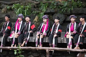 Национальное шоу в деревне Ли и Мяо