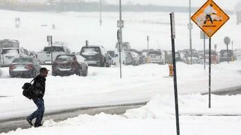 Снежная буря обрушилась на Испанию