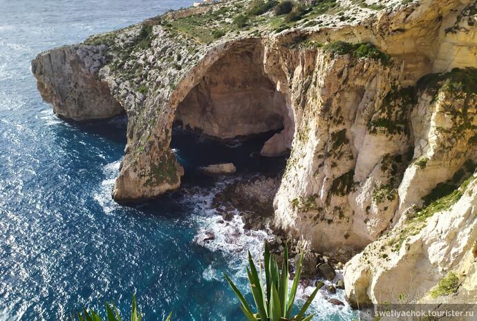 Декабрьская Мальта — дикая красота Blue Grotto