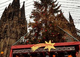 Кельн и Кельнский собор в Рождество