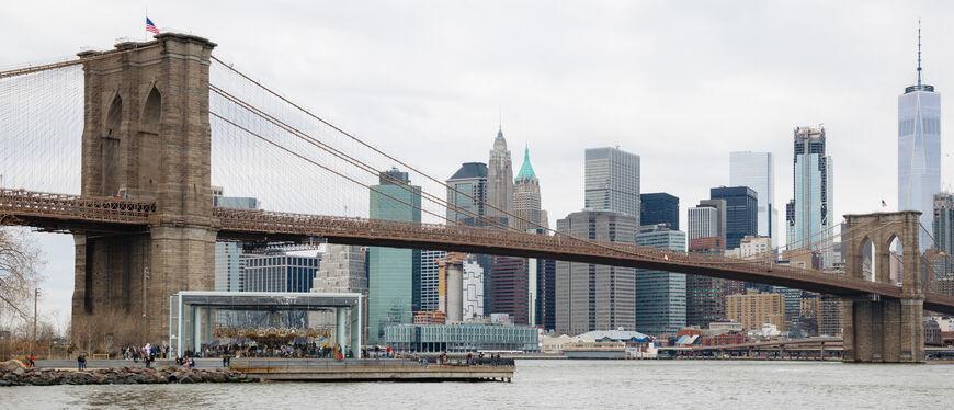 Бруклинский мост Где находится на карте города Нью-Йорк фото интересные факты