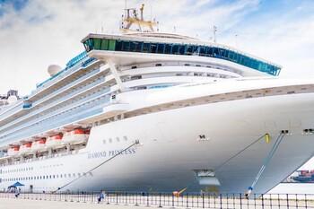 Коронавирус обнаружен у 61 человека на круизном лайнере Diamond Princess