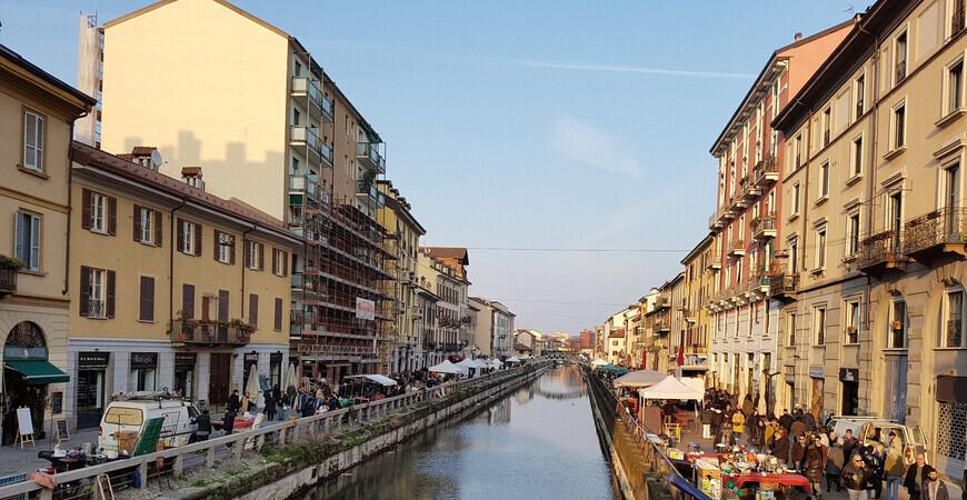 Блошиный рынок в Милане «Navigli»