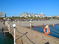 У многих отелей на пляже Богазкент - свой пирс-причал