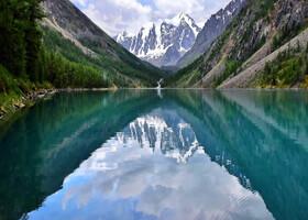 Одно из самых больших богатств горного Алтая - его озера, Нижнее Шавлинское озеро