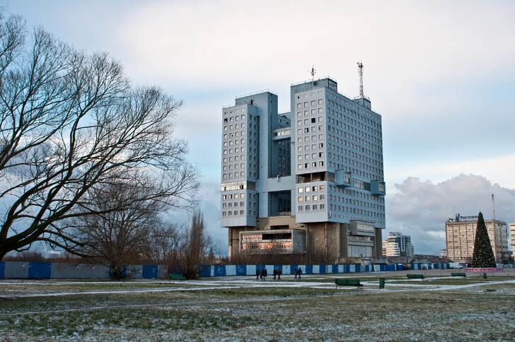 Калининград зимой. Дом Советов