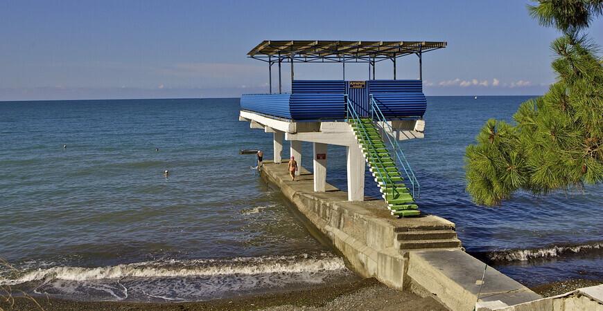 Пляж пансионата «Эдем»