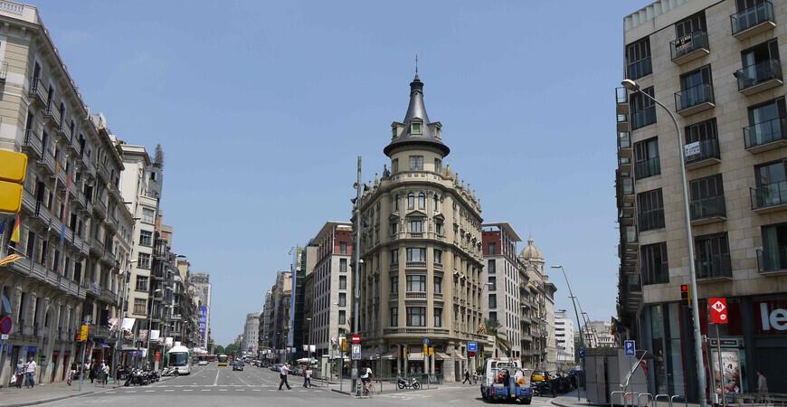 Торговая улица Carrer de Pelai в Барселоне