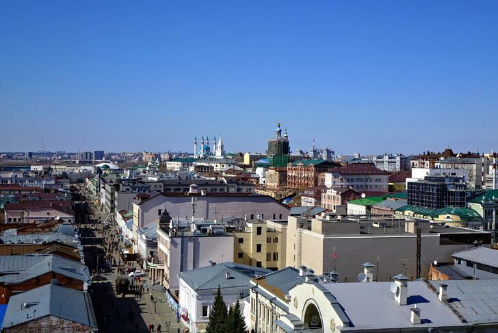 Вид с колокольни Богоявленского собора