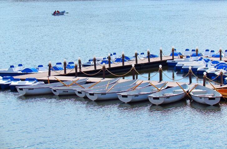 Водные развлечения на озере Нижний Кабан