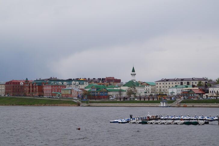 Старо-Татарская слобода на берегу озера Нижний Кабан