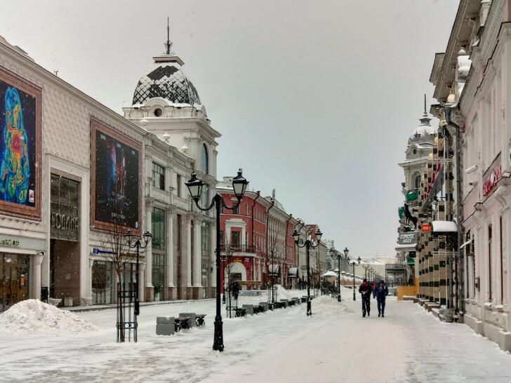 Ул. Баумана в конце ноября