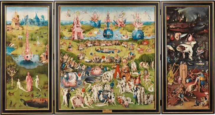 Триптих Босха «Сад земных наслаждений» из коллекции Прадо