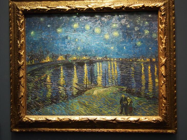 «Звёздная ночь над Роной» кисти Ван Гога из коллекции музея Орсе