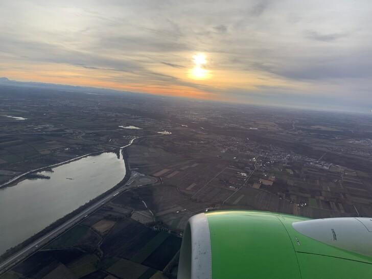 Виды по маршруту полета  Москва-Новосибирск