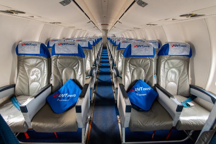 В самолете авиакомпании ЮВТ Аэро