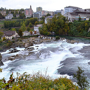 Рейнский водопад. Радужные впечатления от дождливого дня