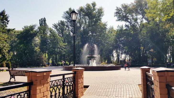 Один из фонтанов в центре Липецка