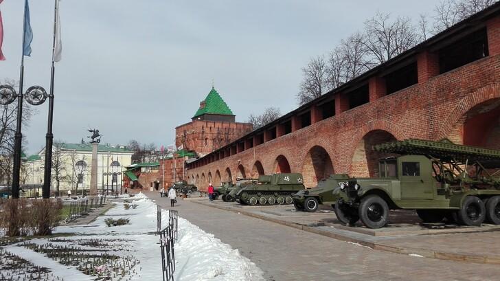 Военная техника у Кремлевских стен