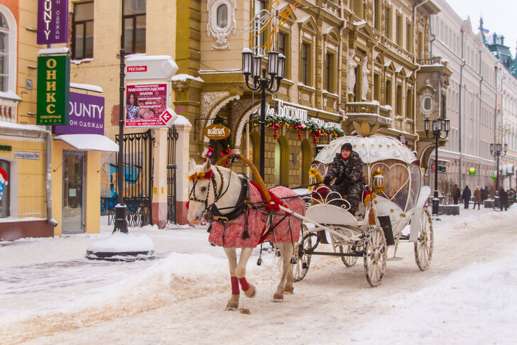 Новогодние развлечения на улицах города