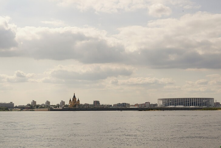 Вид на стадион Нижнего Новгорода