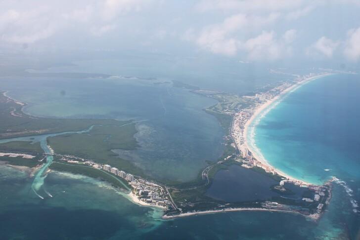 Канкун с высоты полета