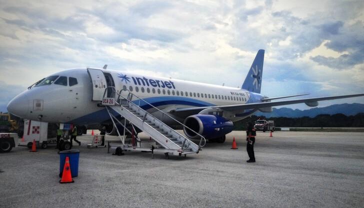 Внутренний рейс в Мексике