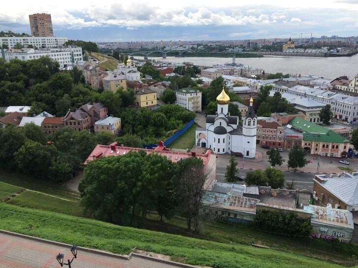 Вид со стен Кремля