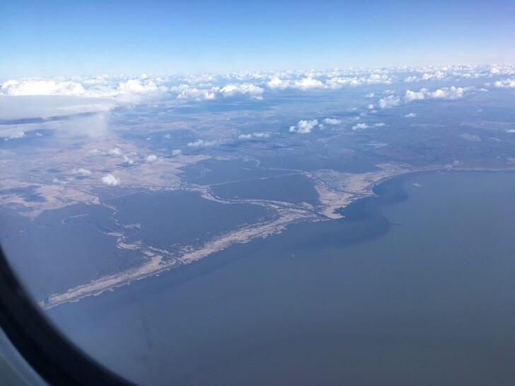 Вид на Калининградскую область из иллюминатора