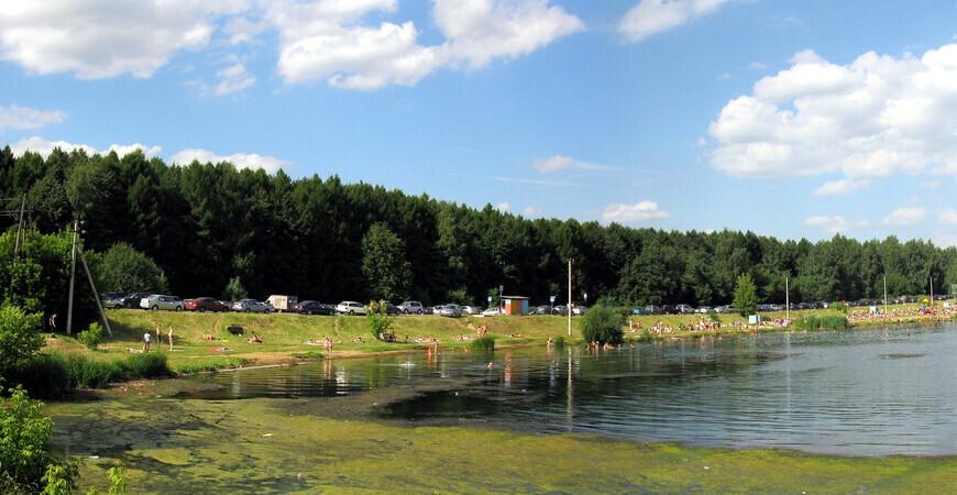 Веретьевский пляж на озере Сенеж