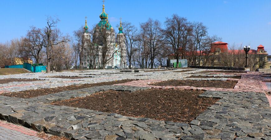 Фундамент Десятинной церкви в Киеве