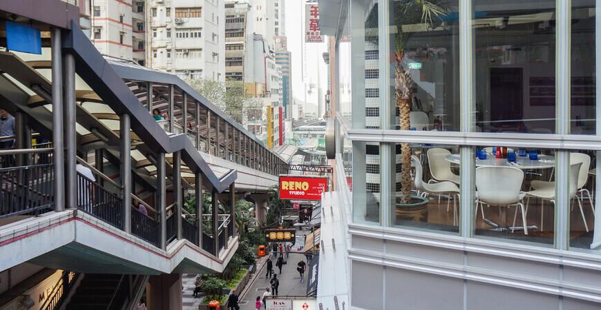Эскалатор в Гонконге (Central Mid-Levels Escalator)