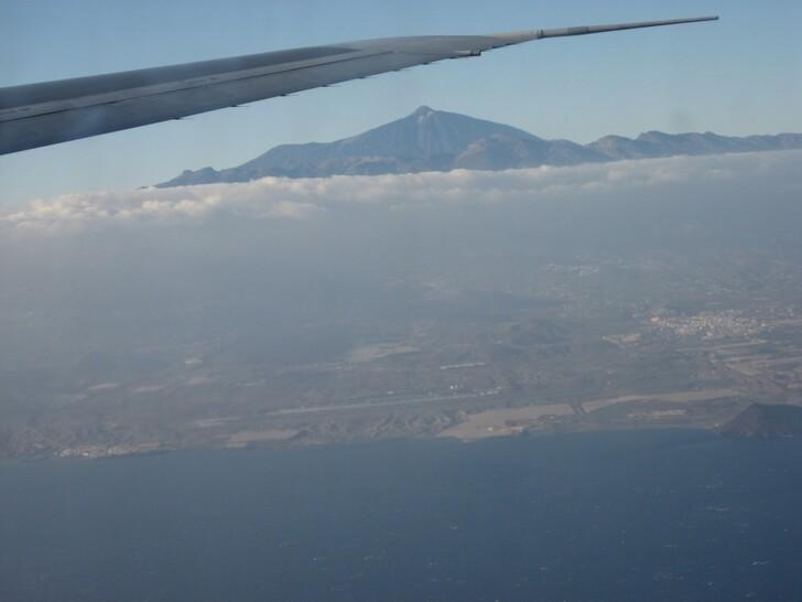 Заход на посадку над Тенерифе