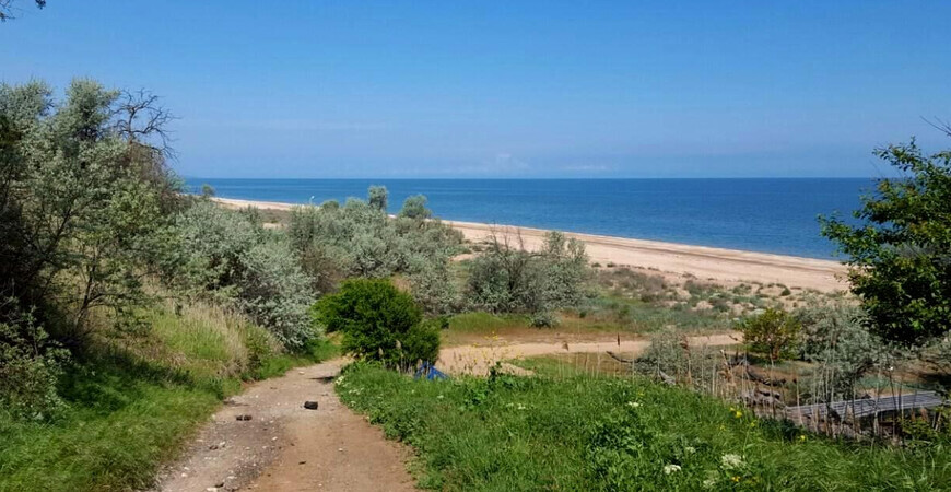 Центральный пляж поселка Пересыпь
