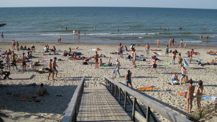 Пляж в Зеленоградске
