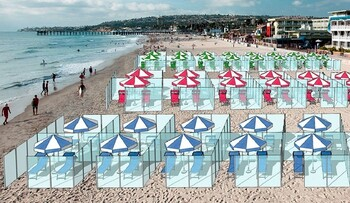 В Италии на пляжах предлагают установить прозрачные перегородки